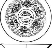 zhongguoyijisheqingpian_中国古代器物-碗状古物上的花朵花蕾