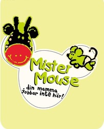 卡通牛和老鼠以及英文构成的矢量图