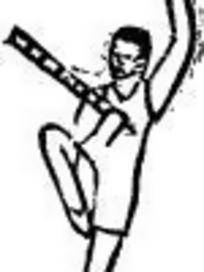 矢量手拿武器的人物图形