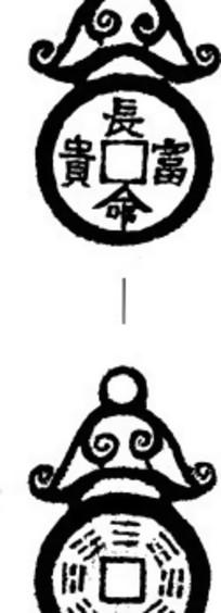 zhongguoyijisheqingpian_咸丰年间的古钱币线描图