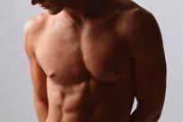 男人胸肌特写图