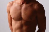 男性胸部胸肌特写