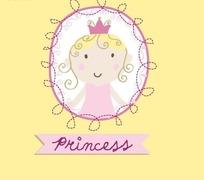 手绘带皇冠的儿童简笔画