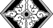 中国古典图案-卷曲纹构成的六边形图案
