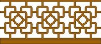 古典循环对称移窗雕刻图案花边