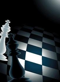黑白格上的国际象棋EPS矢量文件