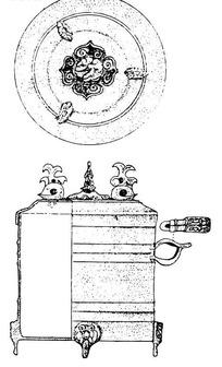 中国古代器物-斑驳的古物上的如意图形