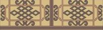 中国古典花纹栏杆素材图