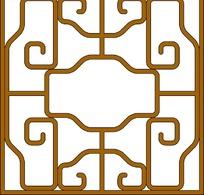 古典循环对称正方形移窗雕刻图案