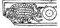 缺失边角蛇缠龟玄武图