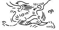 手绘抽象龙纹图案