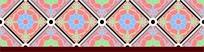 中国传统菱形花朵花边图案分层素材