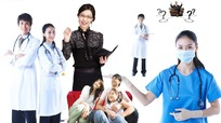 医生护士及一家人的合影PSD素材