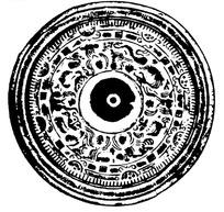 矢量古代佛教人物简笔画矢量图