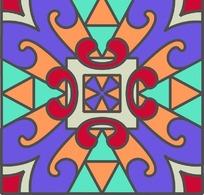 灰边几何对称图案分层素材