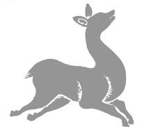 中国古典图案-仰头的动物构成的斑驳简单的图案