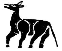 中国古典图案-张着嘴的斑驳简单的动物