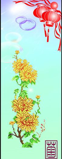 红黄爆炸彩绘图图片