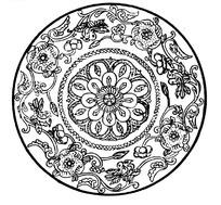zhongguoyijisheqingpian_中国古代器物-古物上的花朵和藤蔓以及卷曲纹