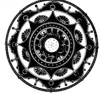 传统团花矢量图案