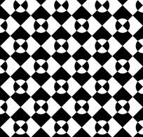 黑色背景白色方形四方连续图案