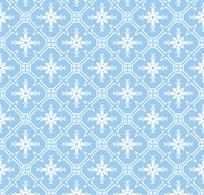 浅蓝色背景白色花纹四方连续图案图片