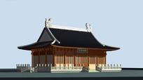 中国古建筑东海神殿效果图