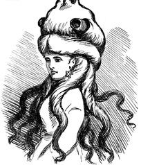 黑白画 戴帽子长发美少女
