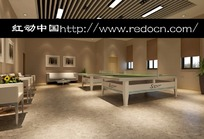 现代风格运动休息室3d模型
