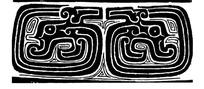 中国古典图案-抽象拙朴的卷曲纹龙纹图案