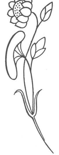 一支花骨朵简笔画