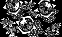 黑白各种花纹图案合集