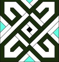 线的重复叠加平面构成