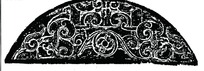 中国古典图案-卷曲纹构成的斑驳的半圆形图案