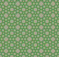 灰色背景上绿色线条的重复图案