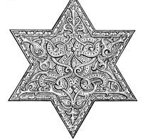 欧洲花纹的六角形图案