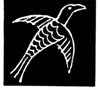 矢量古代象形动物鸟儿插画图形