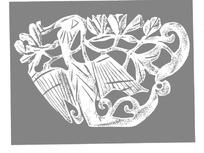 zhongguoyijisheqingpian_中国古典图案-中国结和卷曲纹以及花朵构成的图案