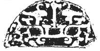 中国古典图案-不规则形构成的斑驳模糊的半圆形图案