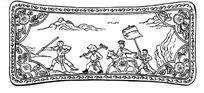 中国古典图案-西去取经的师徒