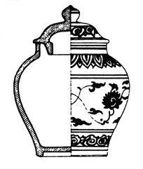 饰有花瓣纹/缠枝花纹/云纹的古代瓷罐