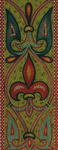 阿拉伯风格卷草花纹竖图图案