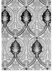 齿边弧线纹网格花果纹齿边草叶纹构成的图案