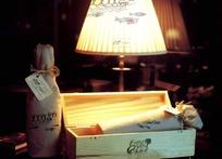 东海岸房地产红酒包装盒和台灯
