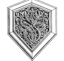 欧洲古典花纹徽章