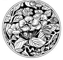 圆形复杂花纹中国风图案ai模版图片