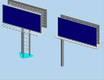 道路广告牌3D模型