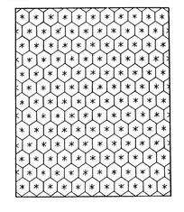 六瓣花蜂巢型背景AI矢量文件