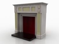 欧式简约风格壁炉设计3D模型素材