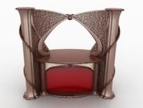 欧式时尚风格壁炉3D模型素材